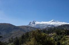 Cordilleras blancas as seen from Lucma