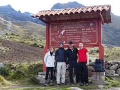 Those who started the Lake Churup hike together