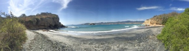 Panorama of Playa Prieta