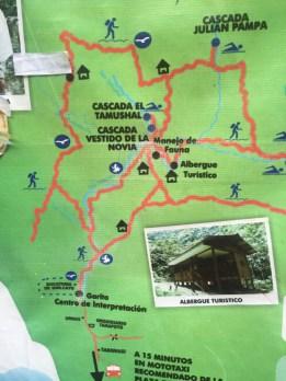 Map of the Alto Shilcayo jungle walk