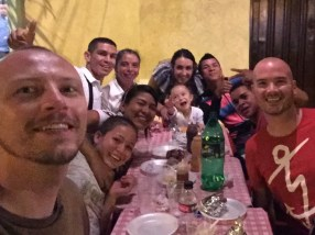 Out for dinner in Cartago