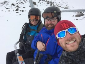Ben, Pete and Scott on the lift