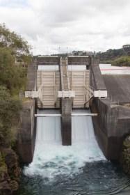 Opening of the dam at Wairakei power station