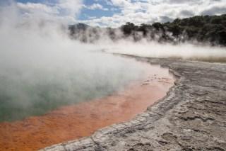 Volcanic pool at Wai-O-Tapu Thermal Wonderland