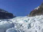 Uphill view of Fox Glacier