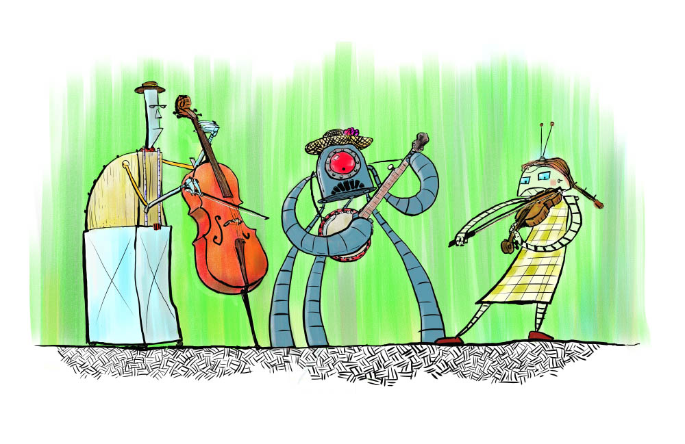 old time robot band