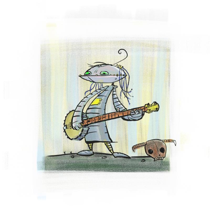 Robot banjo player