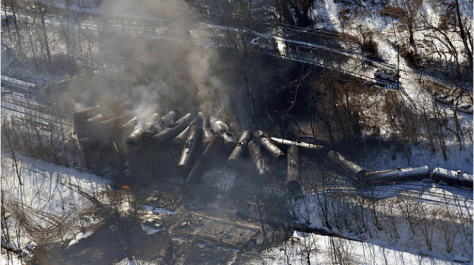 Derailment in Mount Carbon, West Virginia