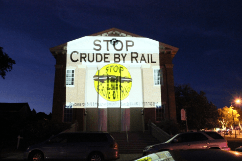 Benicia State Capitol - STOP Crude By Rail July 3, 2015California's Historic Benicia State Capitol - STOP Crude By Rail, July 3, 2015. Photo by Peg Hunter