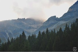 The surrounding mountains at Lake Obernberg
