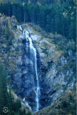 Waterfalls in the valley of Stubai