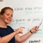 Carmen Meester, Spaanse les