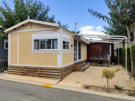 Aitana mobile home for sale on Camping Almafra Campsite in Benidorm