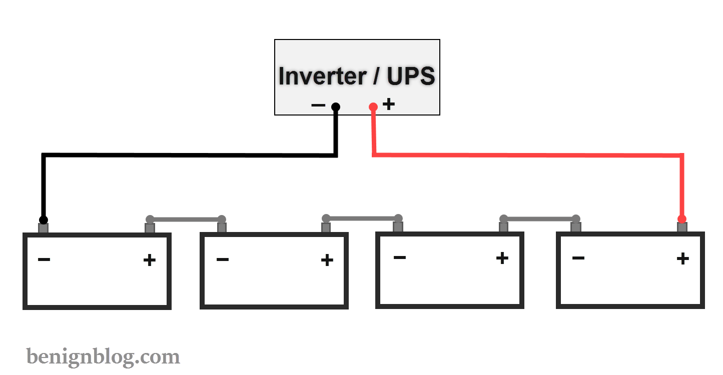 Ups Battery Diagram Wiring Libraries Schematic Circuit Schematicshow To Connect Batteries In Series With Power Inverter Or