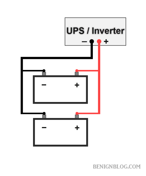 How to connect 246810 batteries in parallel with power inverter two batteries in parallel with power inverter or ups asfbconference2016 Gallery