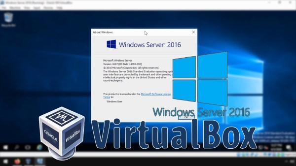 Running a Windows Server 2016 VM in Virtualbox > BENISNOUS