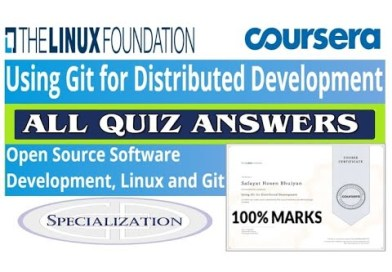 Using Git for Distributed Development | All Quiz Answers | Coursera | The Linux Foundation