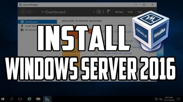 How To Install Windows Server 2016 on Virtualbox > BENISNOUS