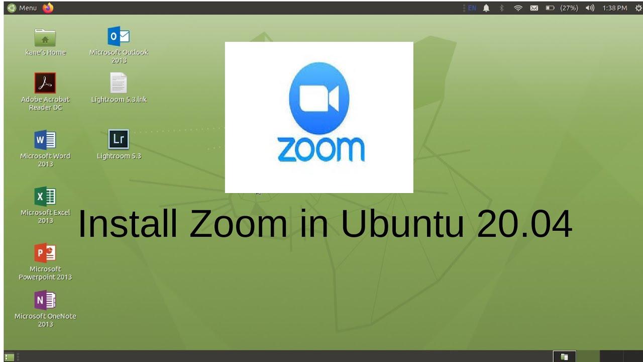 How to install zoom in Ubuntu 30.30 > BENISNOUS