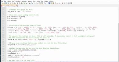 【Python OPENCV】text drawing bounding box