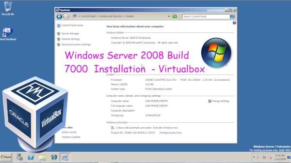 Windows Server 2008 R2 Build 7000 Installation ...