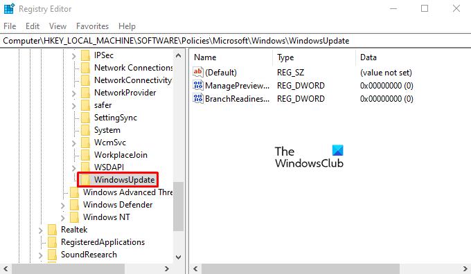 Disable Windows Insider Program Settings