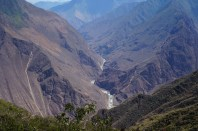Looking down on the river from Choquequirao