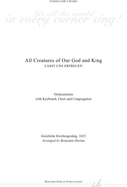 All Creatures of Our God and King ORCH