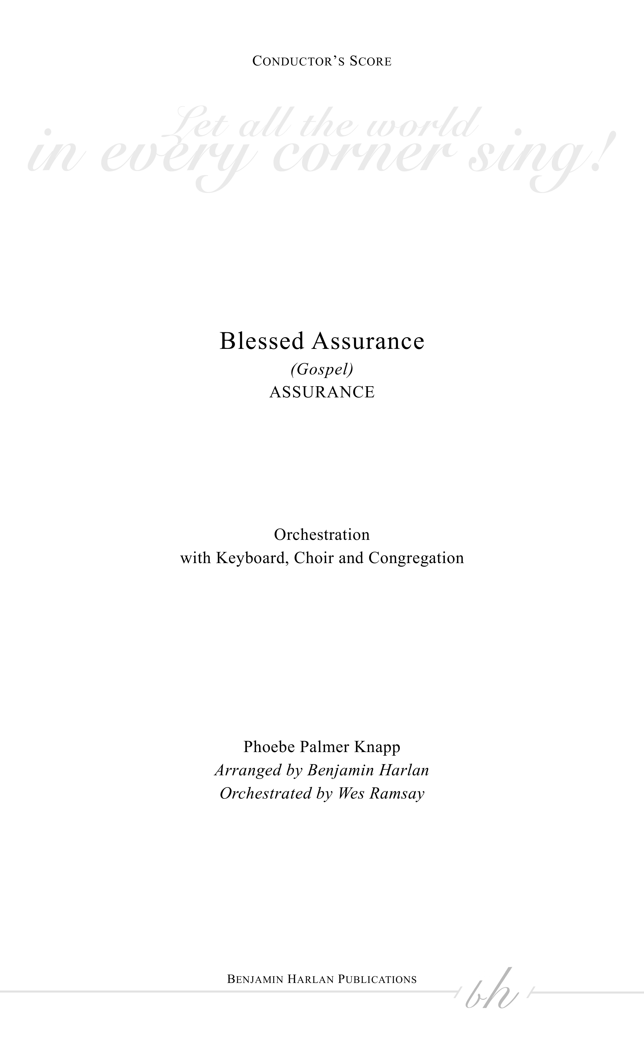 Blessed Assurance (Gospel) ORCH