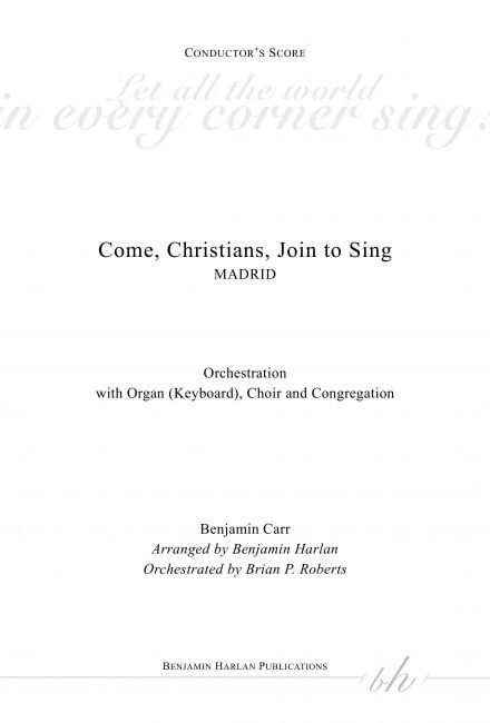 Come, Christians, Join to Sing ORCH