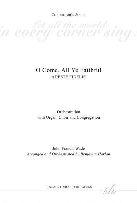 O Come, All Ye Faithful ORCH