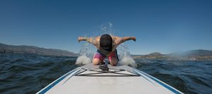 Paddleboarding on Okanagan Lake