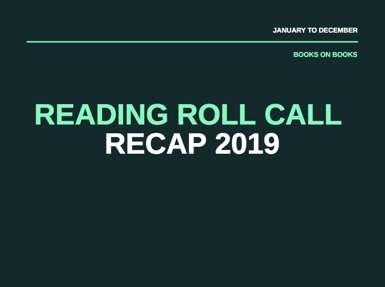 Reading Roll Call – December 30, 2019 – 2019 Recap