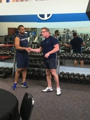 Working out with Bill Phillips