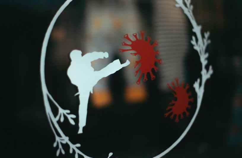 white and red bird logo
