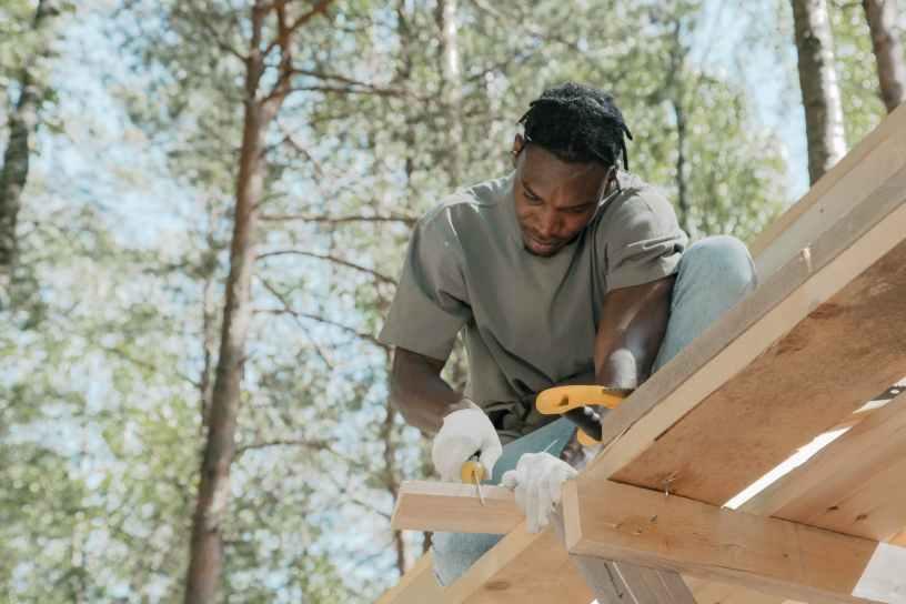 wood man people construction