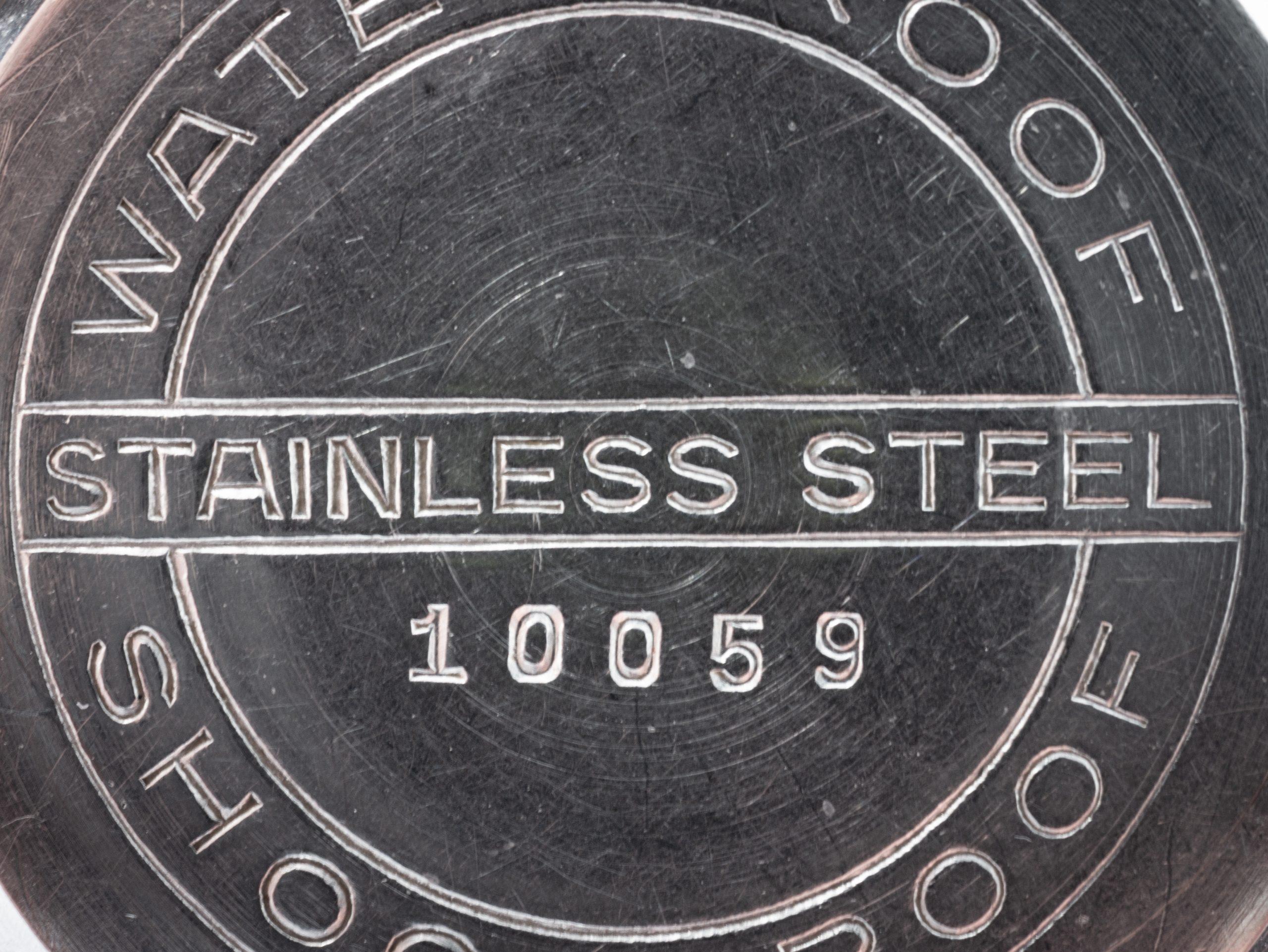 Vintage Silvana waterproof incabloc screw case steel old mechanical watch radium sector dial