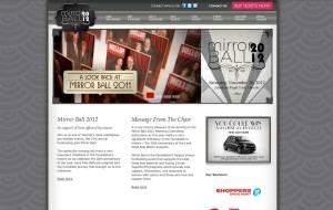 Screenshot of Mirrorball WordPress CMS homepage template