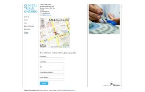 Screenshot of CTO WordPress CMS contact page