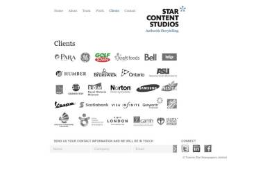 Screenshot of SCS Wordpress CMS clients page template
