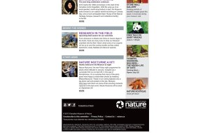 Screenshot showing the bottom section of the Canadian Museum of Nature custom HTML Email Newsletter