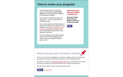 Screenshot showing the middle section of the Heart & Stroke Foundation custom HTML Email Newsletter