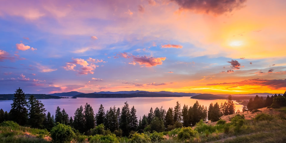 Image result for north idaho sunset