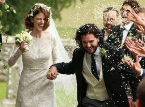 Game of Thrones co-stars Kit Harington and Rose Leslie are married!