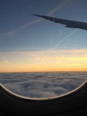 Flight from Atlanta to Frankfurt, Germany.