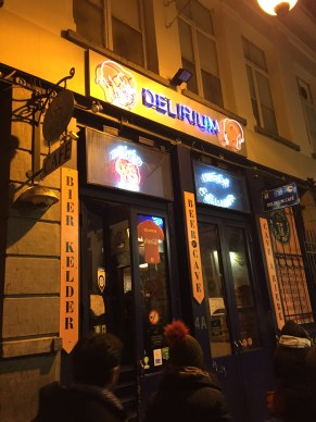 Delirium. This bar holds the Guiness World Record for the most beers.