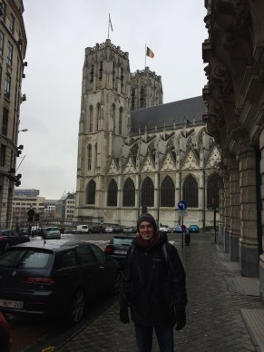 Headed to the Cathedral of St. Michael and St. Gudula!