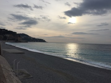 We made it into Nice just in time to see the sunset on the French Riviera!