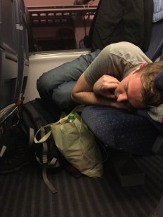 Starting off our journey to Copenhagen, Denmark. We had to sleep on the train.