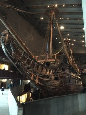 The Vasa warship is very well preserved. 98% of it is original.